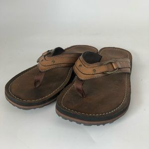 Clark's Brown Leather Sandals Women's Size 5.5